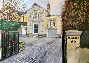 Boreham Road house portrait by Annabel Carington